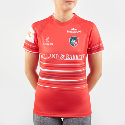 Kukri Leicester Tigers 2019/20 Ladies Alternate S/S Replica Rugby Shirt