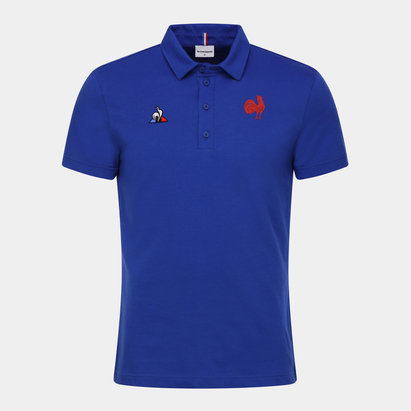 France Presentation Polo Shirt Tee Top Optical White Mens Le Coq Sportif