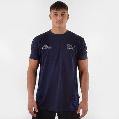 Samurai Sale Sharks 2019/20 Players Rugby Training T-Shirt