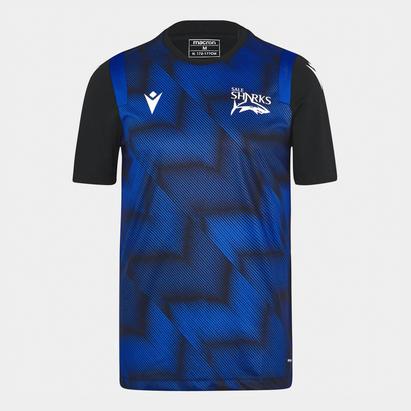 Macron Sale Sharks 21/22 Training T-Shirt Mens