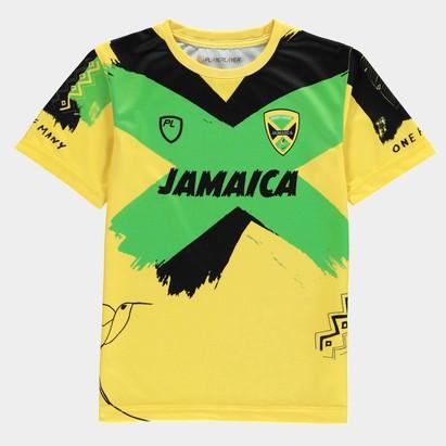 PlayerLayer Jamaica RL Junior Training T-Shirt 21/22