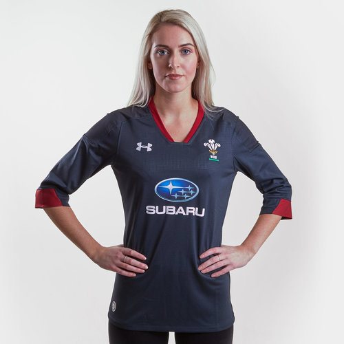 3459f58bb9f Under Armour Wales WRU 2018/19 Ladies Alternate S/S Replica Rugby ...