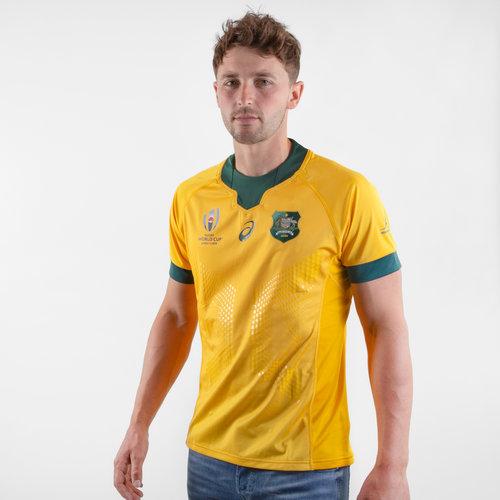 Australia Wallabies RWC 2019 Home Match Day S/S Rugby Shirt